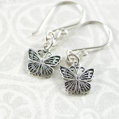 Butterfly Earrings Sterling Silver Butterfly by DorotaJewelry, $25.00