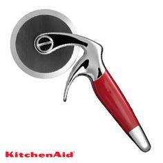 New Heavy KitchenAid Professional Empire Red Pizza Cutter Wheel w Finger Guard