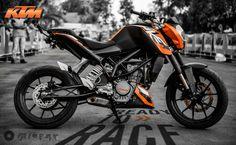 KTM Duke 200 Stunt Motorcycle