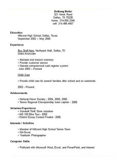 Sample Of Resume For High School Student Image Result For Undergraduate College Resume Examples  Resume .