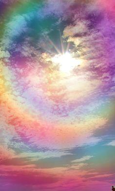 """pureblindingcolour """" rainbow sky """""""