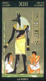 Nefertari's Tarot: An ancient Egyptian Tarot themed deck with a difference - Nefertari's Tarot has a background of goil foil on the cards. This deck is stunning, though the digital images look nowhere near as good as the actual cards.