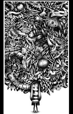 Nightmares by Sandra Inchaurraga, via Behance
