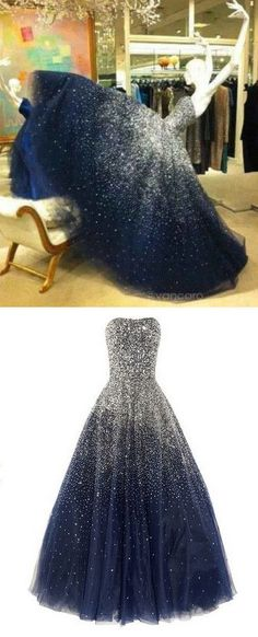 A-Line Beading Real Made Charming Prom Dress,Tulle Formal Dresses,Evening Dresses