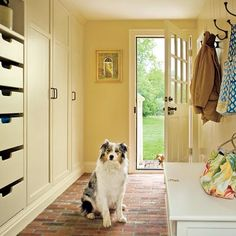 mudroom with open an