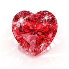Vector purple heart on shiny diamond background