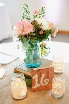 10 centros de mesa para bodas vintage