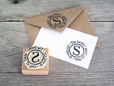 Return Address Stamp Personalized Hand Carved Rubber door LetterKay