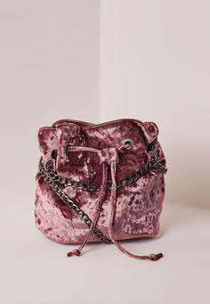 Pink Velvet Cross Body Bag - Missguided