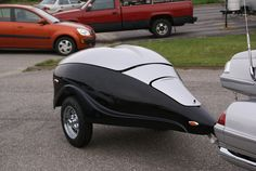 aerodynamic trailers - Google Search Pull Behind Motorcycle Trailer, Trailer Suspension, Motorcycle Camping, Bicycle, Vehicles, Trailers, Image, Google Search, Bike