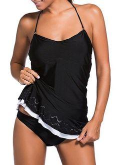 Black Halter Neck Padded Ruched Swimdress on sale only US$30.94 now, buy cheap Black Halter Neck Padded Ruched Swimdress at liligal.com