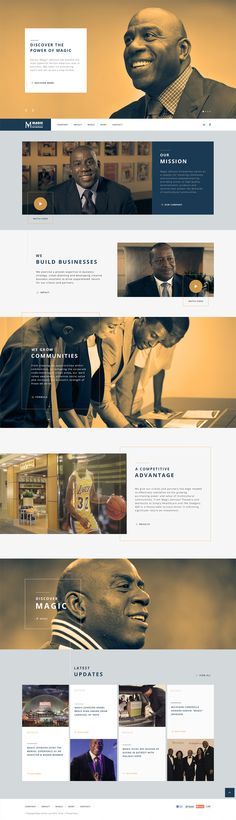 """Site design for Quantasy. Earvin """"Magic"""" Johnson has become the most powerful African American man in business. MJE takes his pioneering spirit and will to win a step further."""