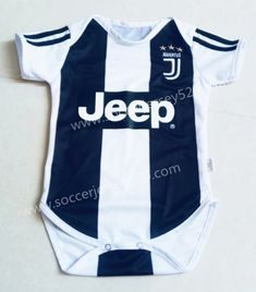 2018-19 Juventus Home White and Black Baby Soccer Uniform. Youth SoccerKids  SoccerSoccer UniformsKids UniformsSoccer JerseysJuventus SoccerCheap  Football ... 3dc3f828b