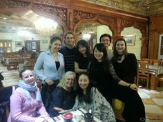 At the end of our semester in Peking we had a farewell dinner with our teachers!