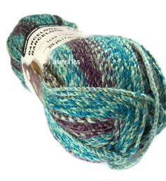 Loops & Threads Barcelona Yarn Watercress Teal Blue Gray Grey Purple Bulky #5 Acrylic 200g 7 oz