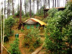 Camp Potters Hill (Himachal Pradesh Shimla) #7. Camp Potters Hill – An offbeat camping experience  Best time to visit: March to June Accommodation: Tents and cottages Attractions: Rafting, Air gun shooting, Treks, Burma Bridge