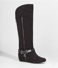 Express Tall Wedge Boot - They also come in brown and natural. On sale for $55.93!!