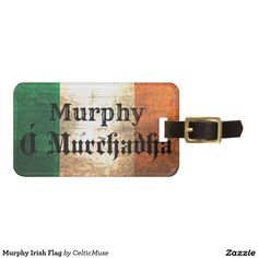 Murphy Irish Flag Tag For Luggage