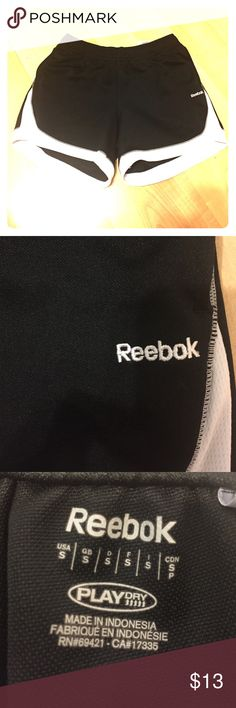 Reebok workout shorts in excellent condition! Like-New condition. Brand New Matching workout top is listed in my closet as well, paired together they make a perfect and timeless workout outfit. Both Women's size small. Draw string around waist for adjustment. Next Day Ship!! Package Deal: $20 bundle for the whole workout outfit. Reebok Shorts