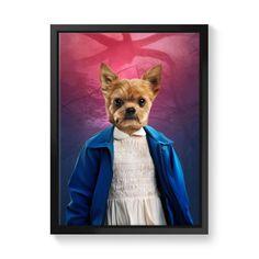 Eleven (Stranger Things Inspired): Custom Pet Canvas - 20x30 / Image / Black Floating Frame