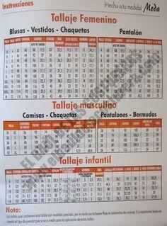 Medidas Revista Crear Fácil Moda Album, Periodic Table, Jordan, Macrame, Blazer, Patterns, Shorts, Google, Tables