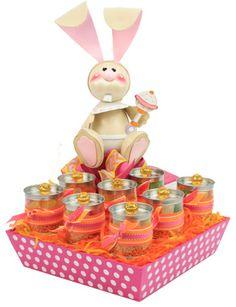 Manualidad original para decorar tu barra de dulces en tu baby shower.