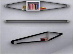 Elastico Bookcase by Arianna Vivenzio. Continuin the theme on unusual materials to make bookcases from.