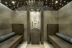 Steam room with cushions!