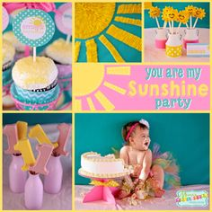 Sunshine Party: Emily's You are my Sunshine First Birthday. Today I am sharing a very sweet Sunshine Party for Miss Emily's first birthday. Be sure to check out all of our Sunshine Party Ideas an...