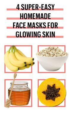 6 easy-to-DIY facial masks recipes The best homemade facial masks for glowing skin MyFavouriteFaceMasks - Easy Homemade Face Masks, Face Scrub Homemade, Homemade Skin Care, Diy Face Mask, Homemade Blush, Homemade Beauty, Makeup Tricks, Makeup 101, Mac Cosmetics