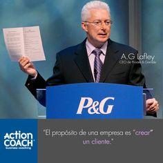 """Alan George """"AG"""" Lafley (nacido el 13 de junio 1947) es el presidente de la Junta, el presidente y consejero delegado de Procter & Gamble. Originalmente se retiró en 2010, se reincorporó a la Compañía el 23 de mayo de 2013. AG se convertirá en el Presidente Ejecutivo de Procter & Gamble, a partir del 01 de noviembre 2015. Como CEO, se acredita a Lafley la revitalización de P&G bajo el mantra """"El consumidor es el jefe"""", con un enfoque en marcas de miles de millones de dólares."""