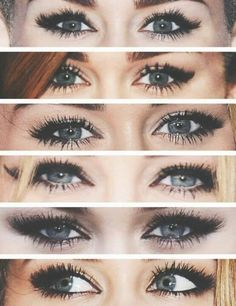 Miley Cyrus eye makeup