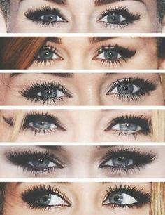 Miley Cyrus eye makeup