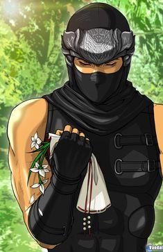 Dead or Alive Ryu Hayabusa Martial Arts Anime, Ryu Hayabusa, Dragon Ninja, Ninja Games, Legend Drawing, Ninja Gear, Fantasy Demon, Dark Comics, Tekken 7