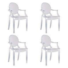 Louis-inspired indoor/outdoor ghost chair.Product:   Chair Construction Material:  Transparent polycarbonate Color: ...