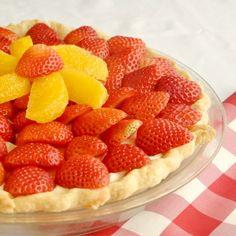Easy Strawberry Orange White Chocolate Mousse Pie