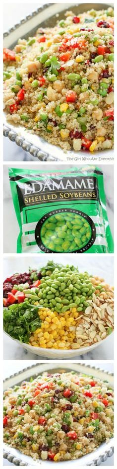 Edamame Quinoa - a light and healthy recipe packed full of super foods. http://www.the-girl-who-ate-everything.com