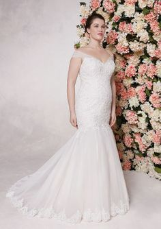 24980 - Sandra - Try this plus size wedding gown on at Aurora Bridal in Melbourne, FL 321-254-3880
