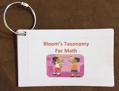 The Kindergarten Corral: Bloom's Taxonomy for Math