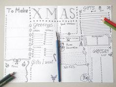 christmas journal xmas planner journaling gift idea agenda