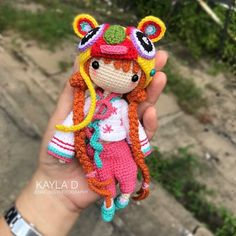 Kayla D  Tiger Hat girl by pattern tester, @jf_708 . Sweetie! ❤️