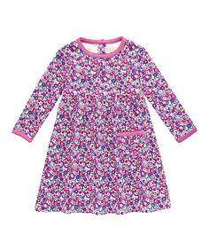 Pink Floral A-Line Dress - Infant, Toddler & Girls #zulily #zulilyfinds