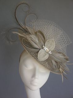 'Titania' Hatinator by Sarah Crozier in bamboo www.sarahcrozier.com #vintage #wedding #cocktailhat