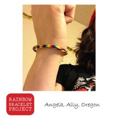 The Rainbow Bracelet Project: Connecting LGBT people and allies world-wide.