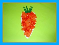 Tissue paper Easter carrot craft and Easter Song for kids