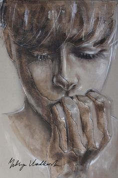 "Saatchi Online Artist: Yuliya Vladkovska; Acrylic 2013 Painting ""to say or not to say"""