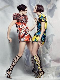 In Bloom - Balenciaga by Ghesquiere photographed by Craig McDean for Vogue