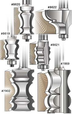 MLCS picture frame / cornice molding router bits