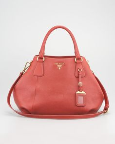 Prada - Vitello Daino Double-Handle Tote Bag - http://womenspin.com/handbags/prada-vitello-daino-double-handle-tote-bag/