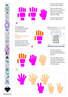 Creating simplified hands using basic shapes and lines | 2D Game Art for Programmers